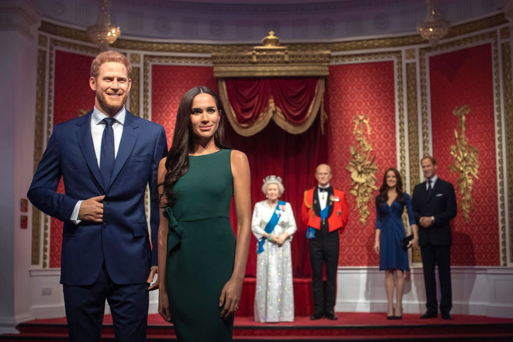 Madame Tussauds London moves its figures of the Duke and Duchess of Sussex from its Royal Family set to elsewhere | Photo: Getty Images
