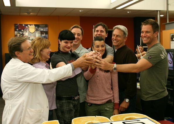 """Cast of """"NCIS"""" attend the NCIS 100th Episode celebration at the Valencia Studios on September 4, 2007 