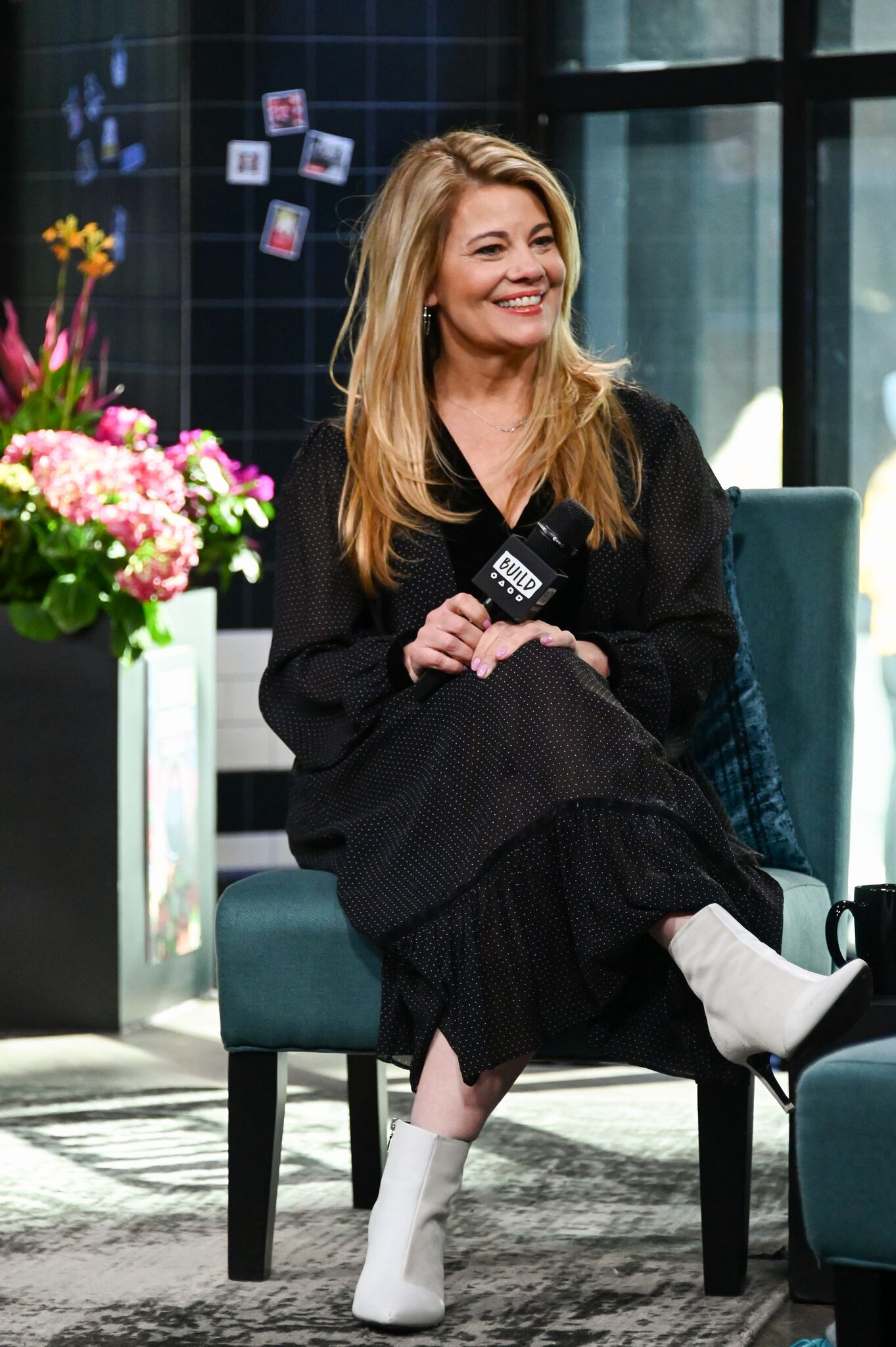 Actress Lisa Whelchel visits Build Studio on April 01, 2019 in New York City. | Getty Images