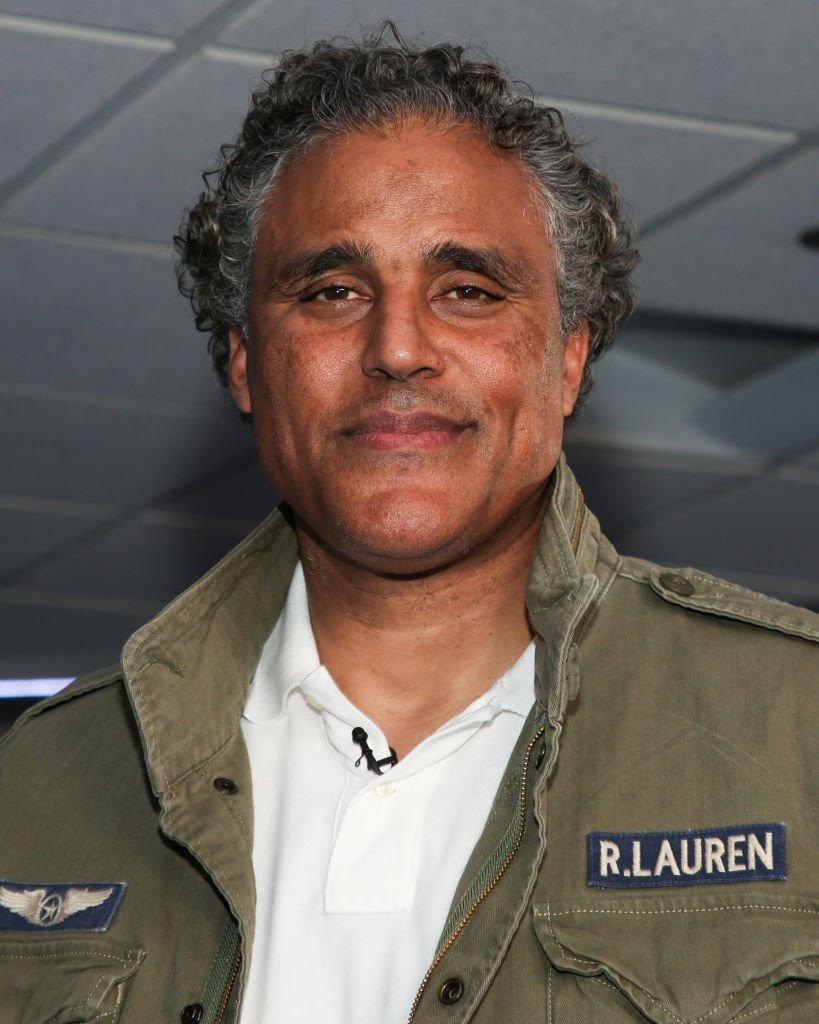 "Actor Rick Fox visits ""Extra"" at Burbank Studios on November 12, 2019 in Burbank, California 