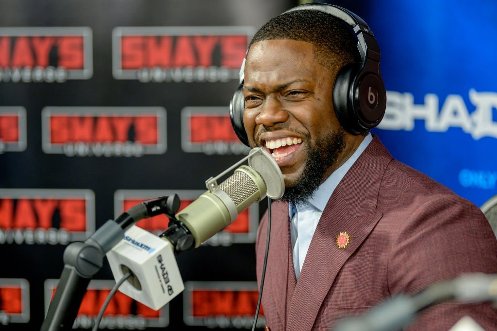 """Kevin Hart visits """"Sway In the Morning"""" on """"Shade 45"""" with host Sway Calloway at SiriusXM Studios 