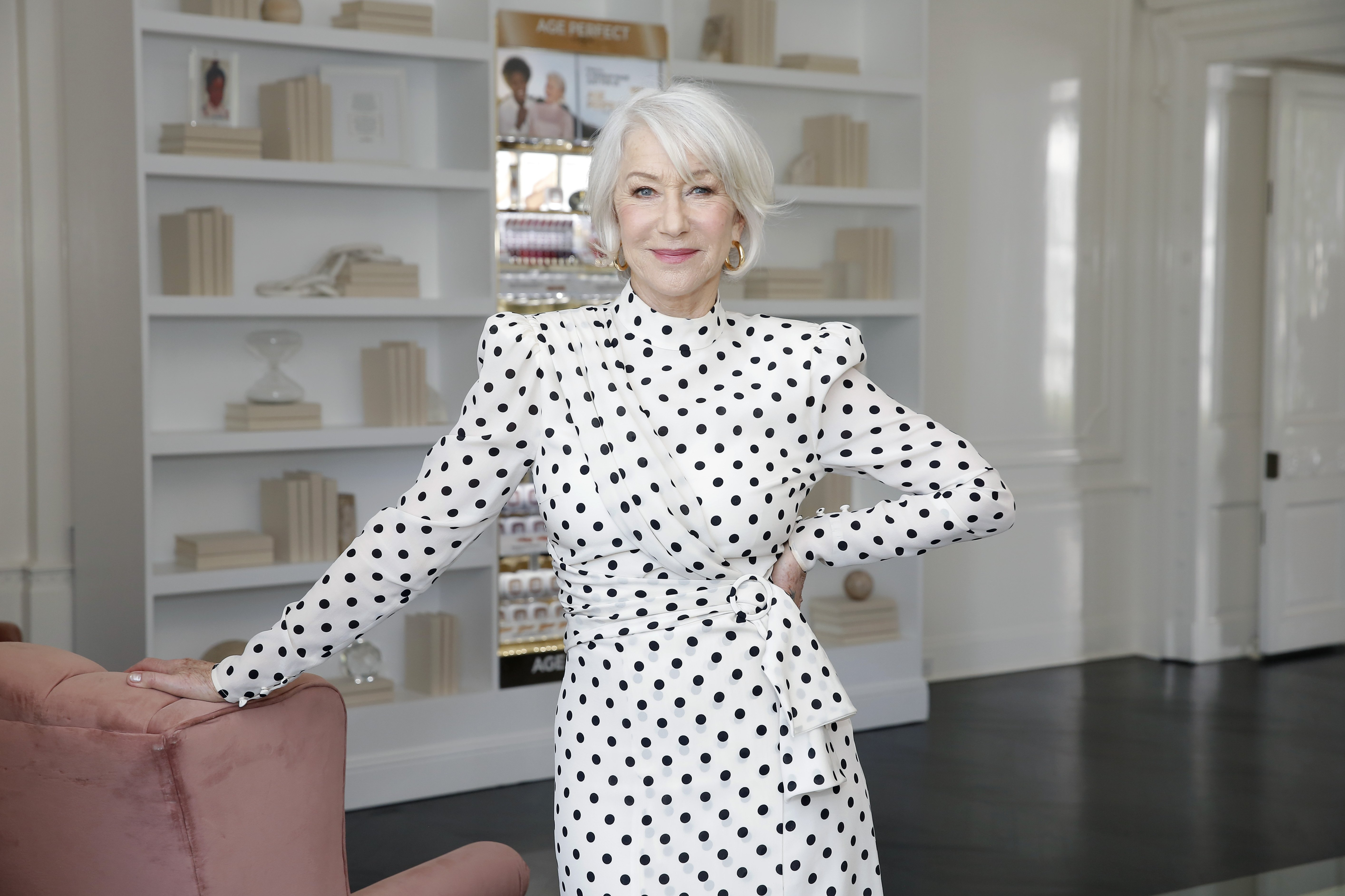 Helen Mirren joins L'Oréal Paris to celebrate the launch of Age Perfect Cosmetics on March 03, 2020 in Beverly Hills, California    Photo: Getty Images