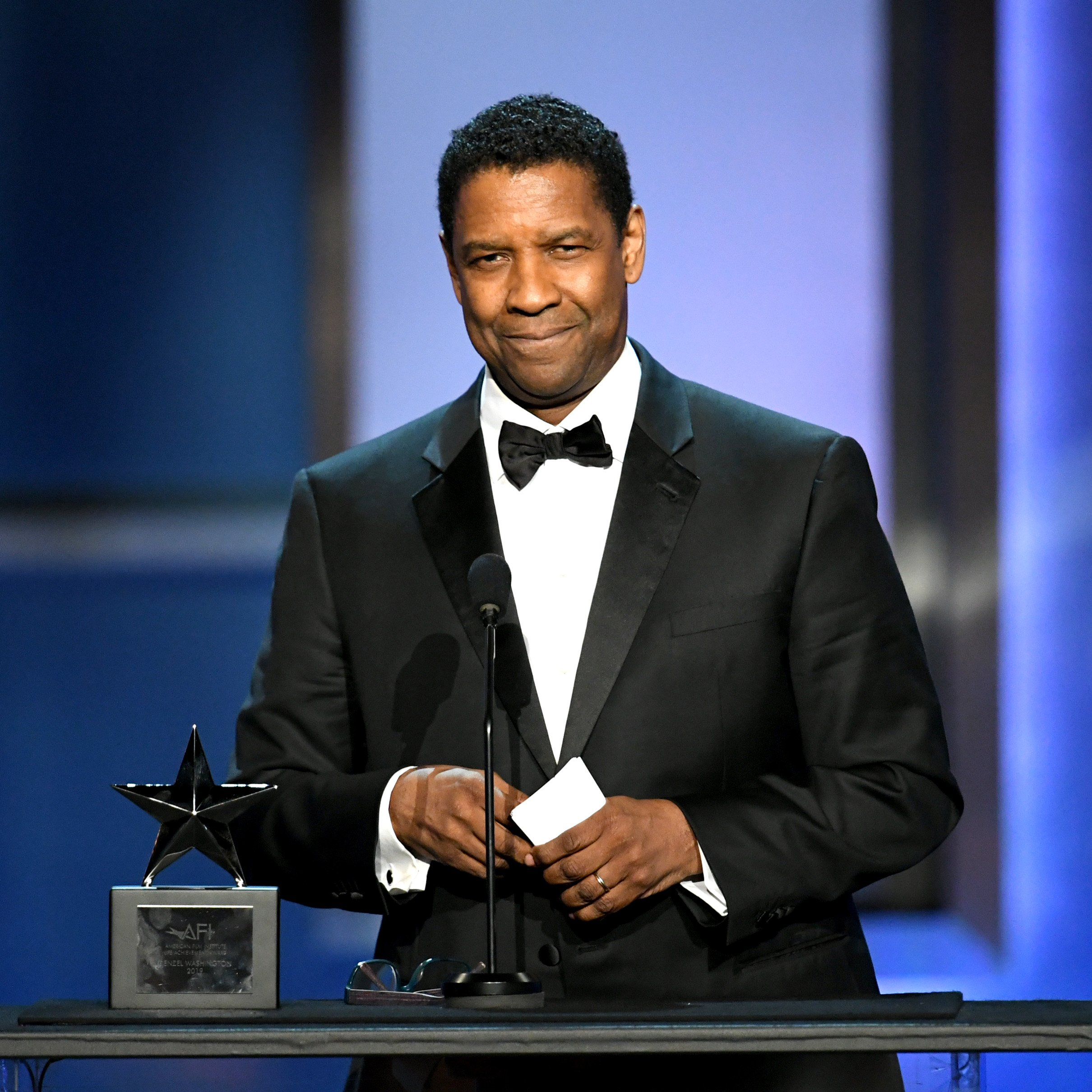 Denzel Washington speaks onstage  at Dolby Theatre on June 06, 2019, in Hollywood, California. | Source: Getty Images.