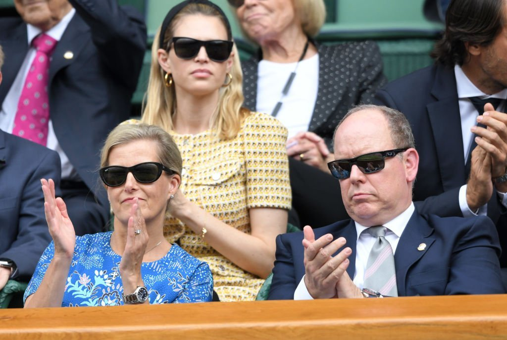 Sophie, Countess of Wessex and Albert II, Prince of Monaco attend day nine of the Wimbledon Tennis Championships at All England Lawn Tennis and Croquet Club | Photo: Getty Images