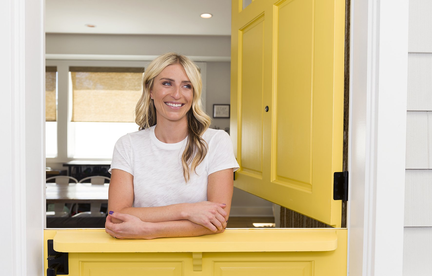 """Jasmine Roth of HGTV's television show """"Hidden Potential"""" at her home in Huntington Beach in 2018 