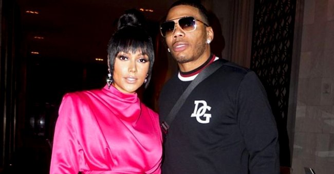 Nelly's Longtime Girlfriend Puts Her Curves on Display in a Chic Black Outfit and High Heels