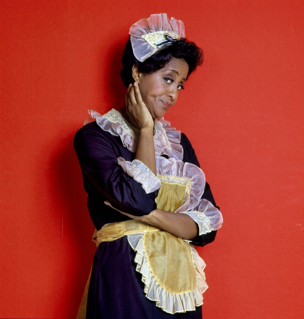 """Actress Marla Gibbs poses dressed for her role as the maid Florence Johnston in the CBS television comedy series """"The Jeffersons"""" circa 1977. 