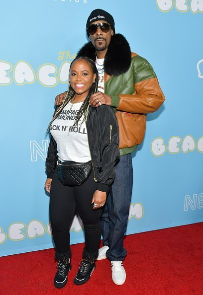 Shante Broadus and Snoop Dogg at the Los Angeles premiere of Neon on March 28, 2019 | Photo: Getty Images