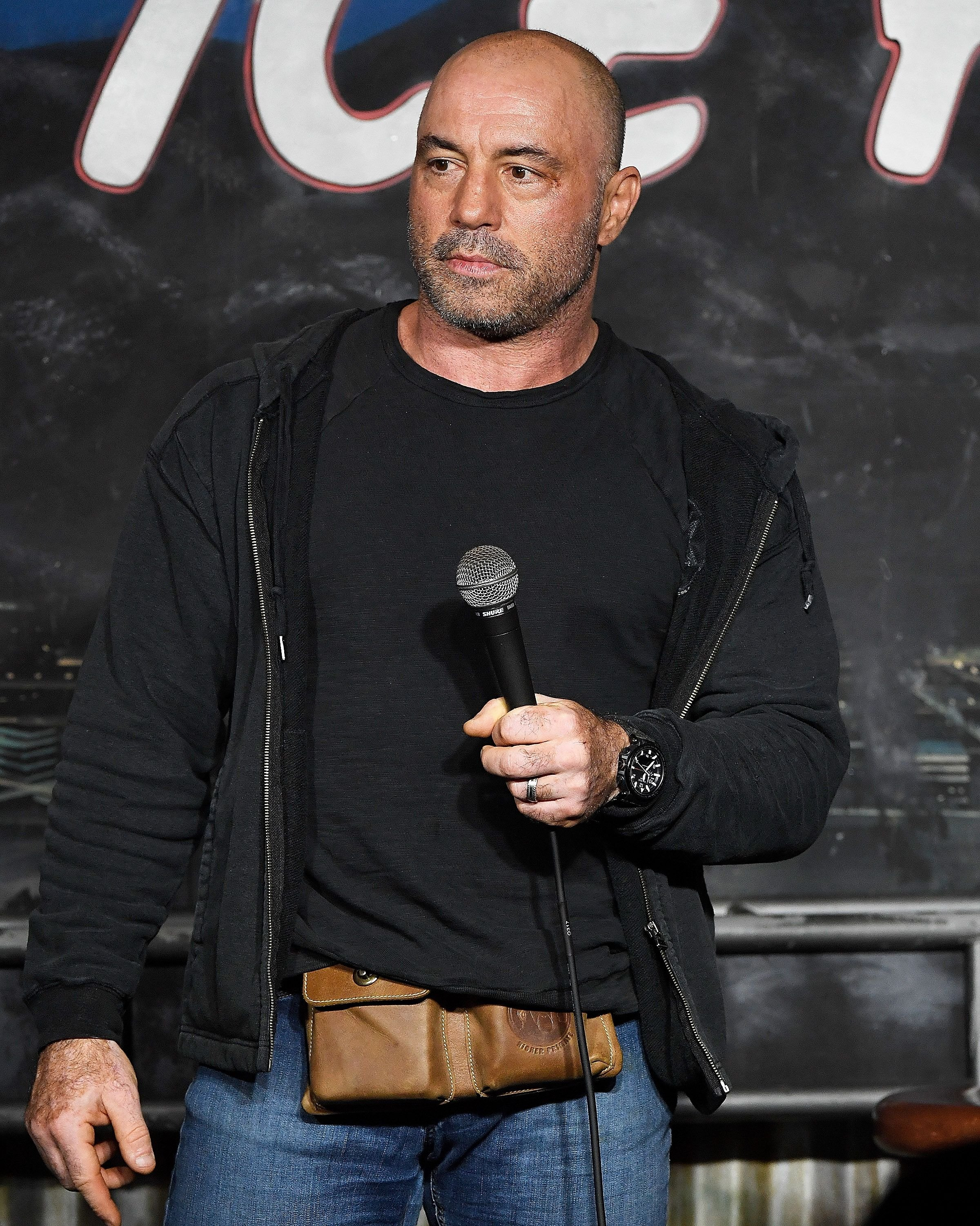 Joe Rogan performing at The Ice House Comedy Club in Pasadena, California   Photo: Michael S. Schwartz/Getty Images