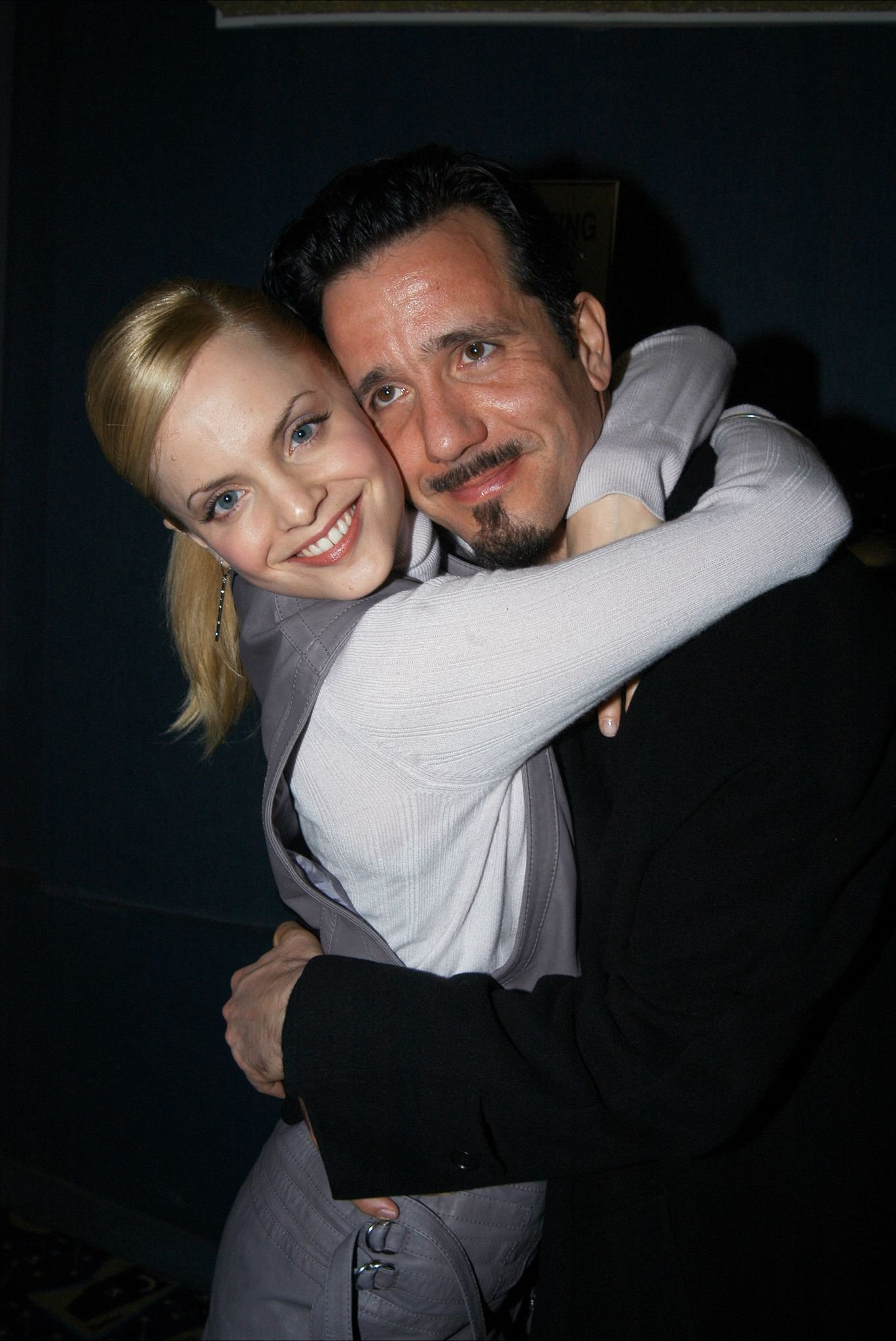 """Mena Suvari and Robert Brinkmann at the New York premiere of the movie """"Spun"""" in 2002 