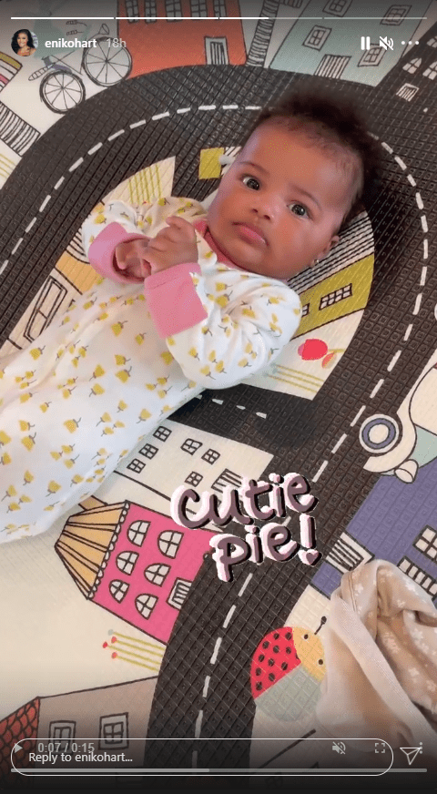 Eniko Hart shares a clip of her daughter Kaori with cute facial expression. | Photo: Instagram/Enikohart