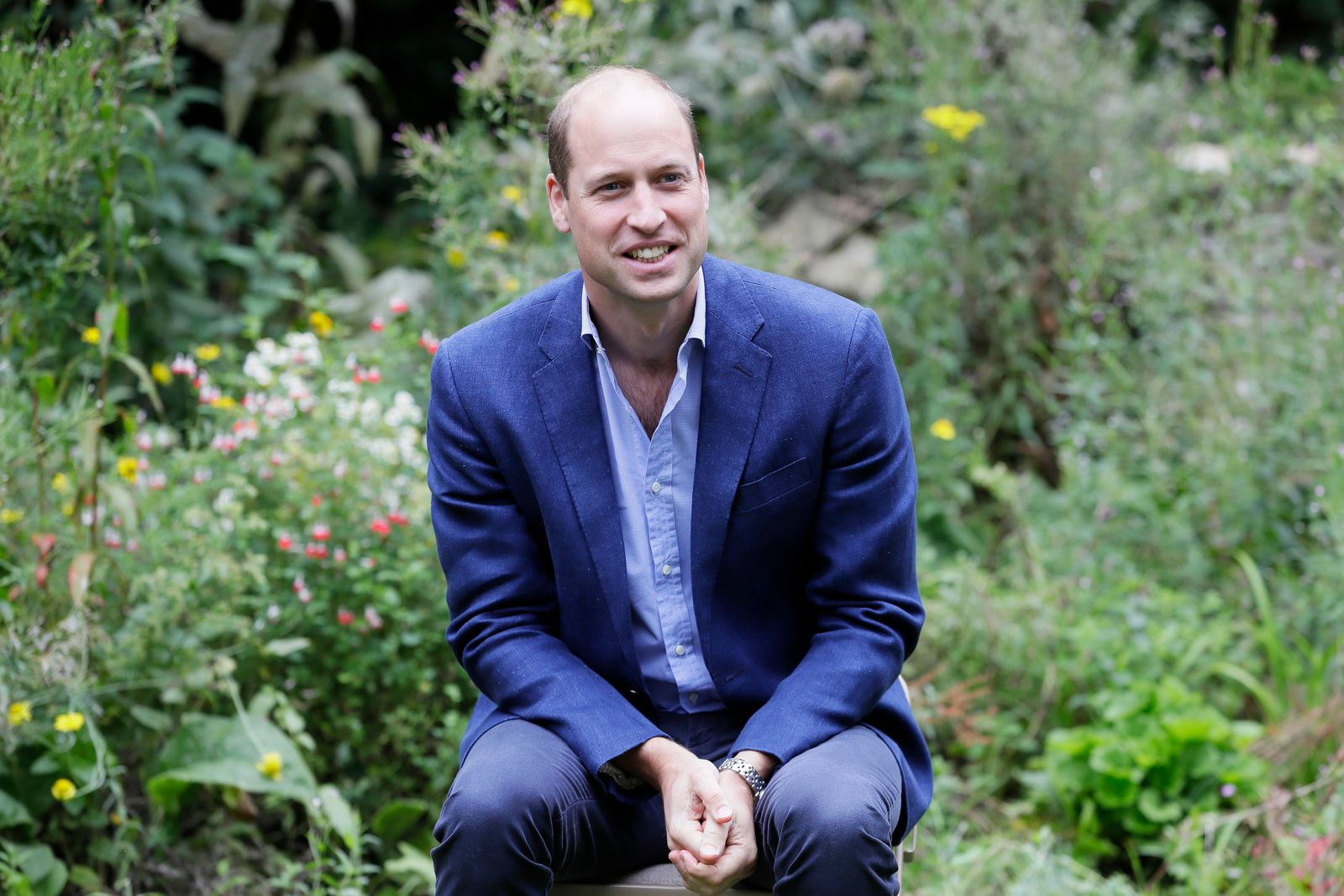 Prince William, Duke of Cambridge speaks during a visit to the Garden House part of the Light Project on July 16, 2020 | Getty Images