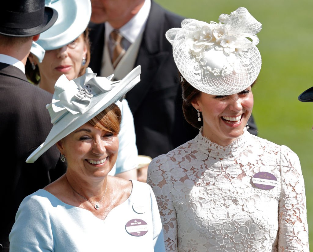 Catherine, Duchess of Cambridge and her mother Carole Middleton attend day 1 of Royal Ascot at Ascot Racecourse | Photo: Getty Images