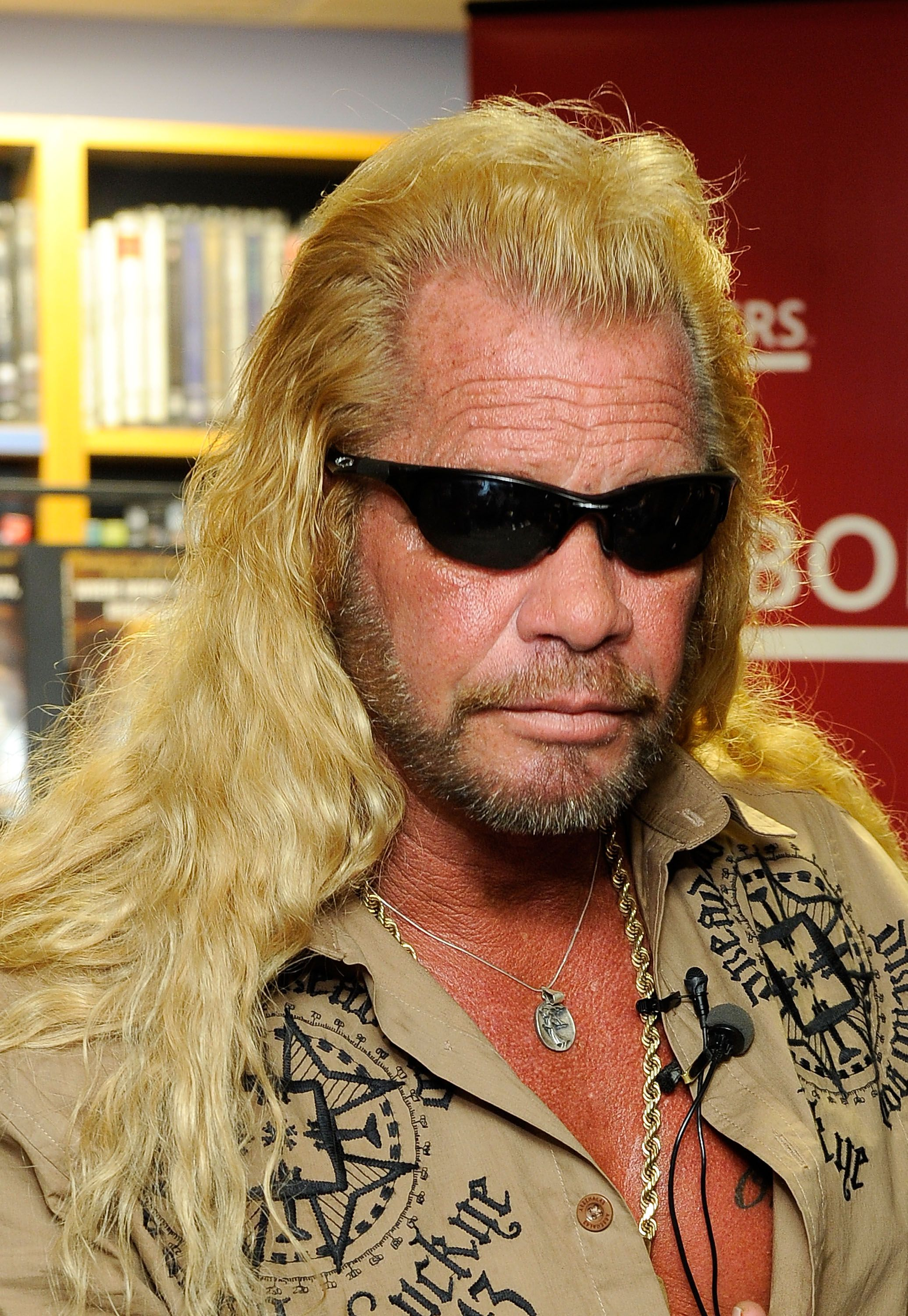 """Dog the Bounty Hunter promotes his book """"When Mercy Is Shown, Mercy Is Given"""" at Borders Wall Street on March 19, 2010 in New York City 