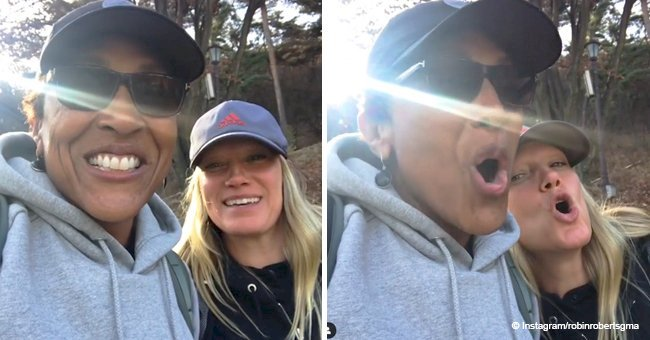 Robin Roberts smiles sweetly in video with longtime partner during 'bonus trip' in South Korea