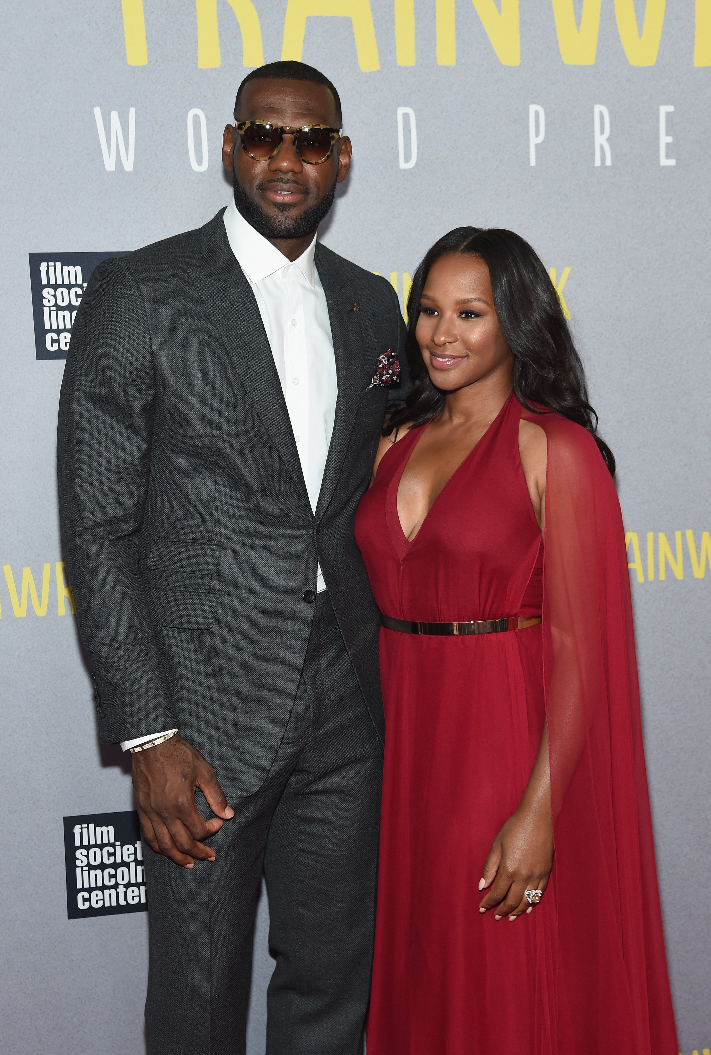 "NBA player LeBron James and wife Savannah Brinson attend the ""Trainwreck"" New York Premiere at Alice Tully Hall 