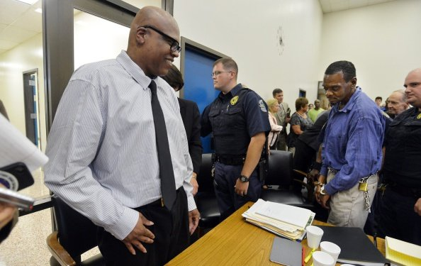Leon Brown at the Robeson County Courthouse in Lumberton, N.C. on September 2, 2014. | Photo: Getty Images