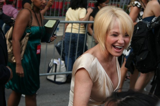 "Ellen Barkin at the ""Ocean's 13"" movie premiere. 
