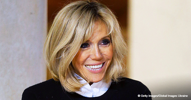 Brigitte Macron réapparaît dans le même manteau, celui qui a fait tant d'histoires à cause de son prix