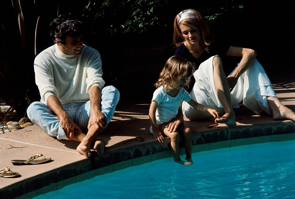 Burt Bacharach, wife Angie Dickinson, and daughter Lea Nikki in their Hollywood home in June 1969   Photo: Getty Images