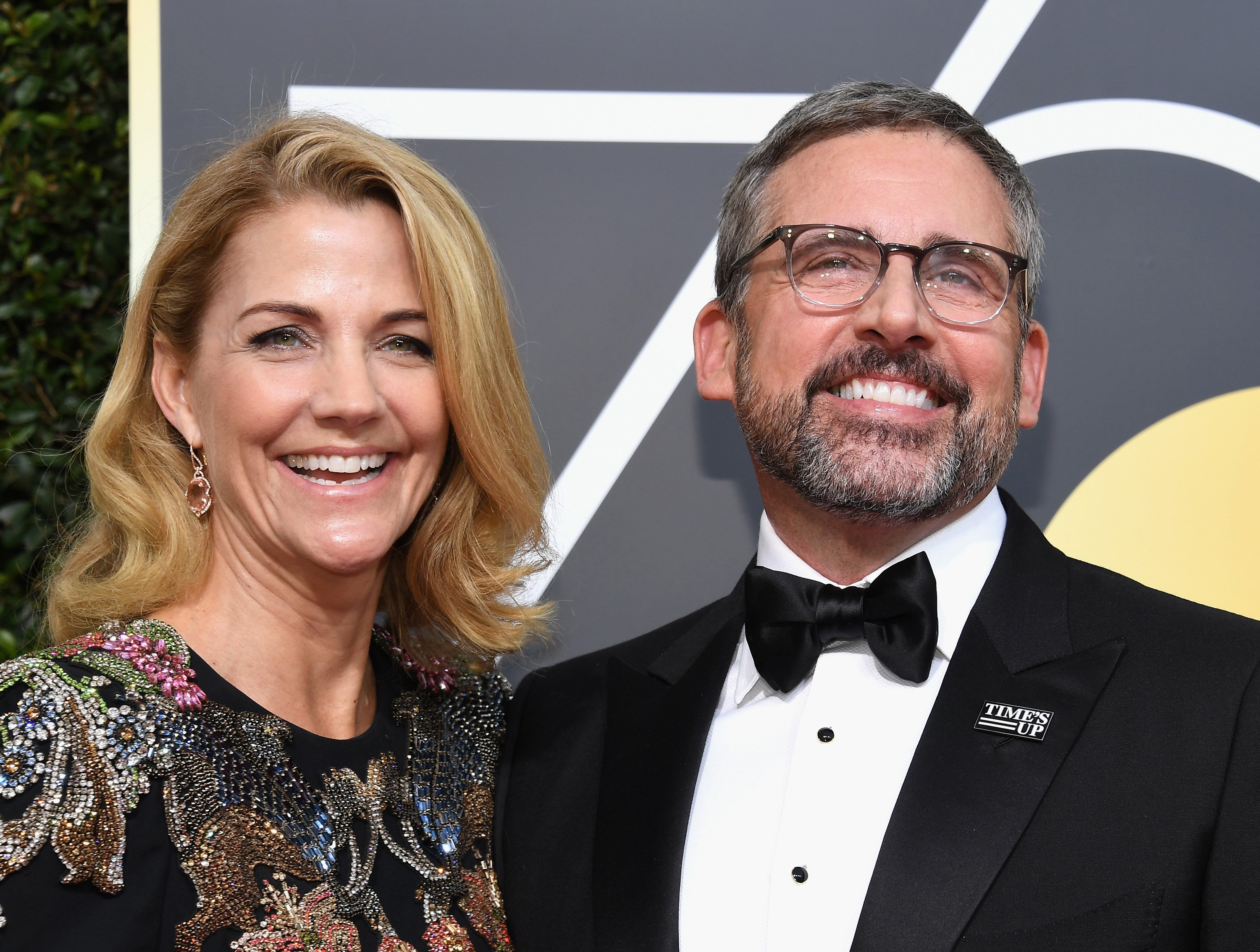Nancy Carell and Steve Carell arrive to the 75th Annual Golden Globe Awards held at the Beverly Hilton Hotel on January 7, 2018. | Photo: GettyImages