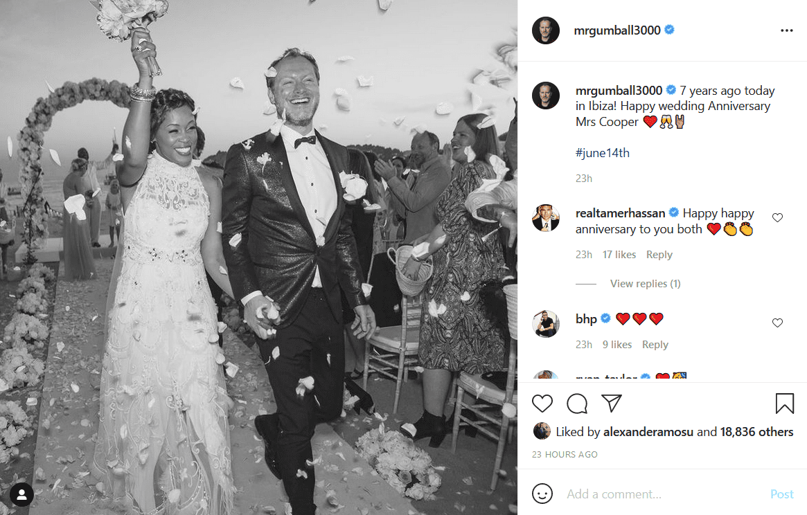Eve celebrates her 7 years marriage anniversary with her husband Maximillion Cooper with a throwback picture. | Photo: Instagram/mrgumball3000