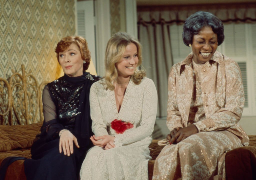 Eleanor Parker, Leslie Charleson, and Madge Sinclair on ABC tv movie 'Guess Who's Coming to Dinner?'   Photo: Getty Images