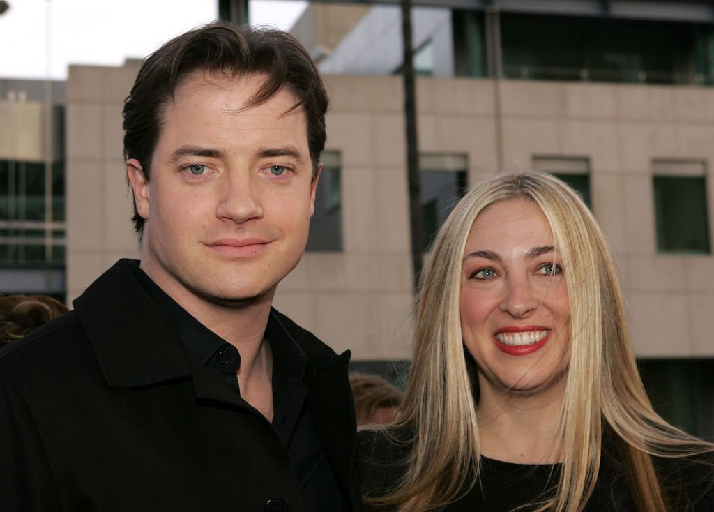 Brendan Fraser and Afton Smith on April 26, 2005 in Beverly Hills, California | Source: Getty Images