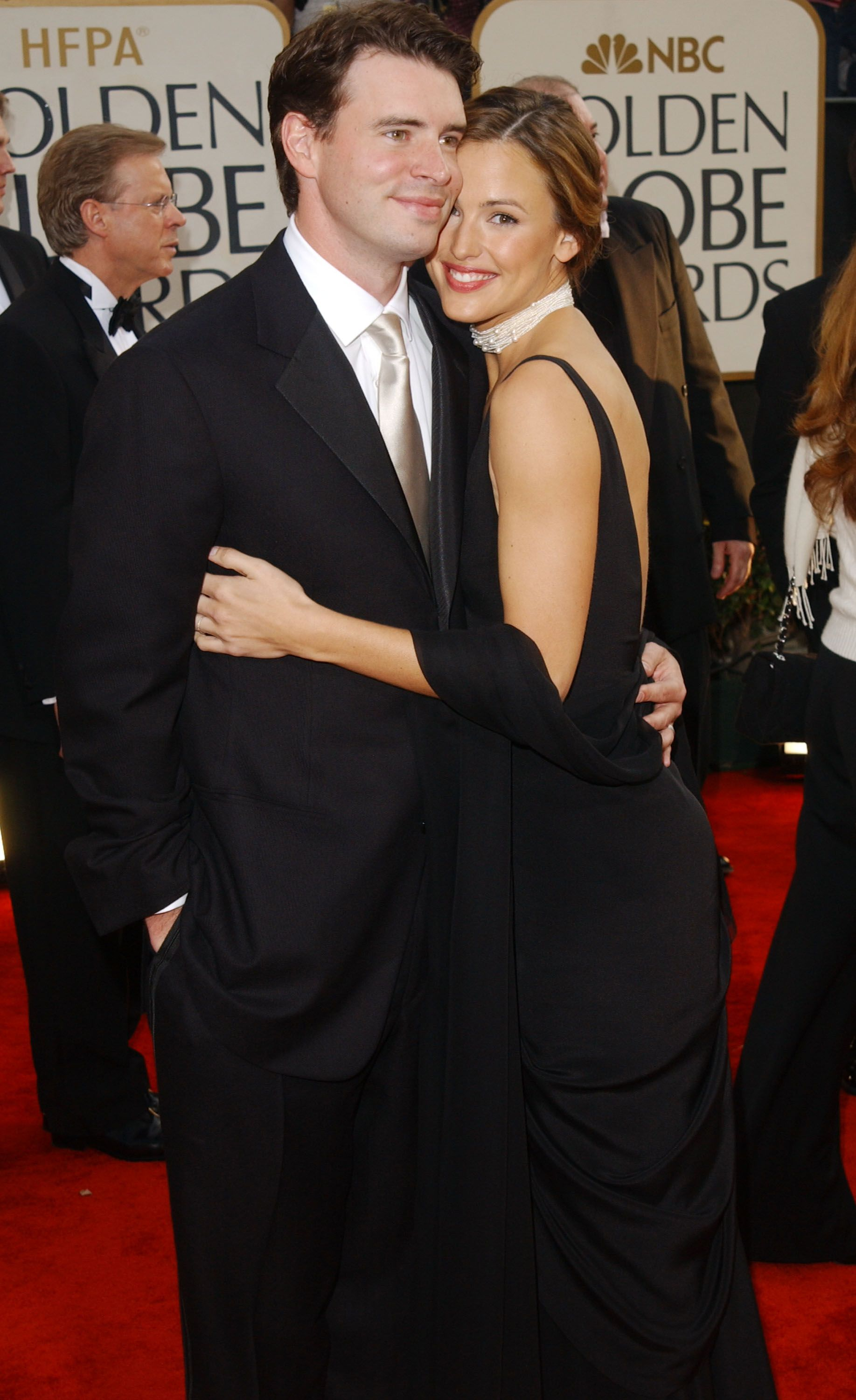 Scott Foley and Jennifer Garner at the 60th Annual Golden Globe Awards on January 19, 2003   Photo: Getty Images