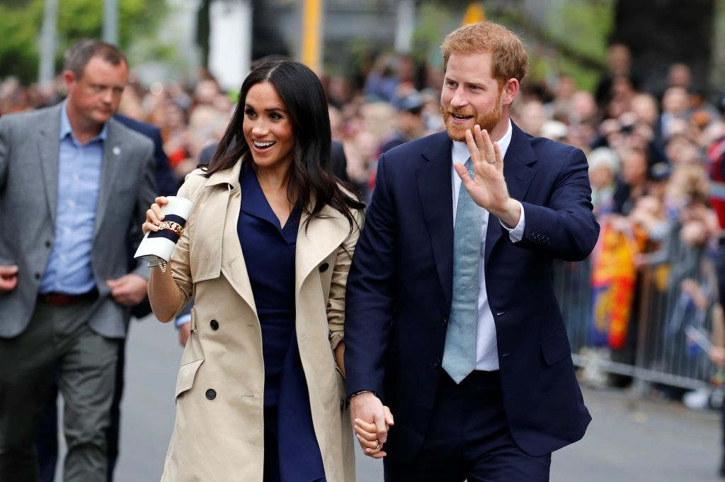 Prince Harry and Meghan at the Royal Botanic Gardens on October 18, 2018 | Photo: Getty Images