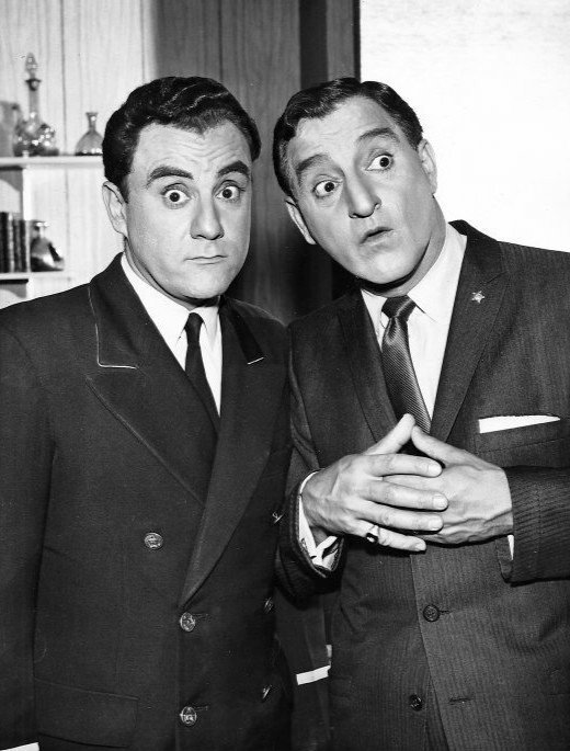 "Bill Dana and Danny Thomas in a scene from the television program ""The Danny Thomas Show"" circa 1961. 