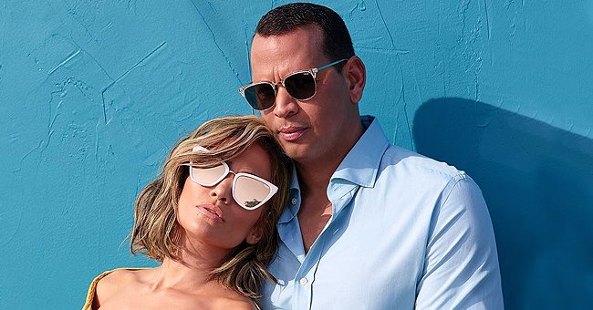 Jennifer Lopez & Fiancé Alex Rodriguez Pose in Matching Masks as They Take Morning Bike Ride