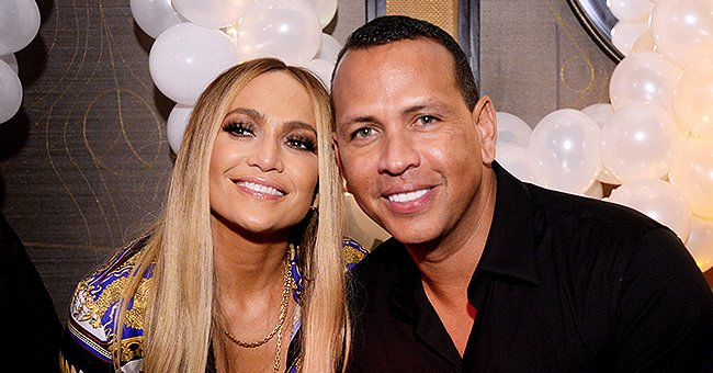 Jennifer Lopez Steps out in Skintight Animal Print Dress and Thigh-High Boots with Her Fiancé Alex Rodriguez