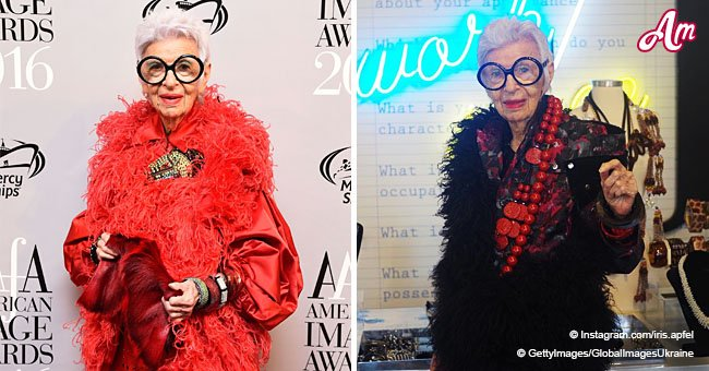97-Year-Old Iris Apfel Signs a Contract with a Prestigious Model Agency