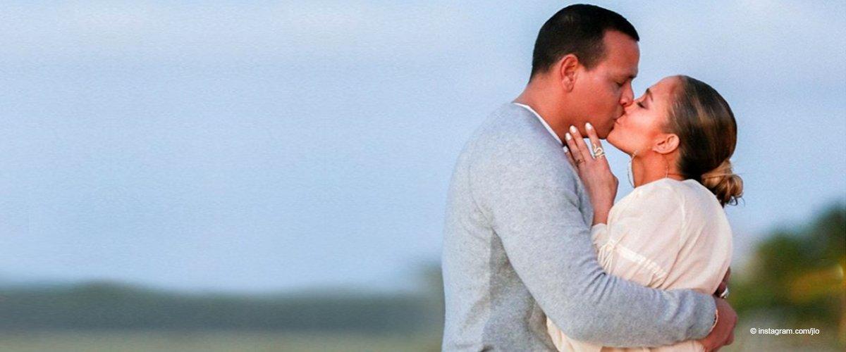 Jennifer López muestra las maravillosas imágenes del momento de la propuesta de Alex Rodríguez
