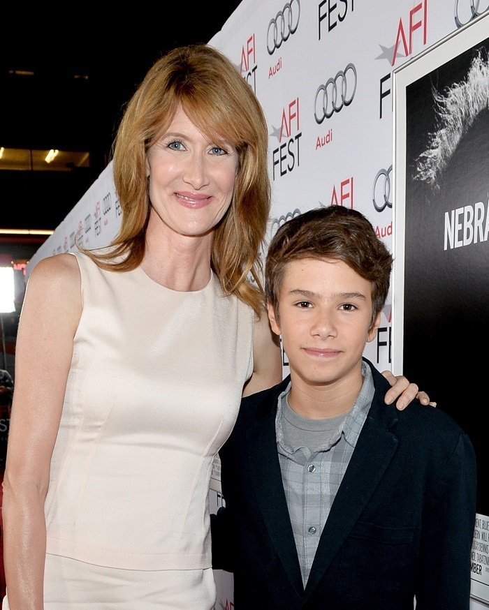 Laura Dern and son I Image: Getty Images