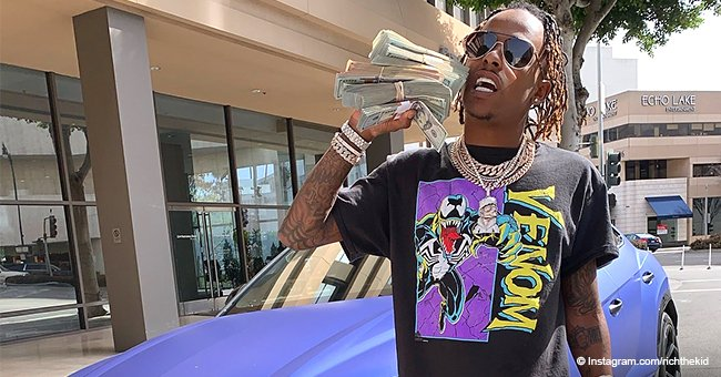 Rapper Rich The Kid shot at and robbed after posting photo with his Lamborghini and stacks of cash