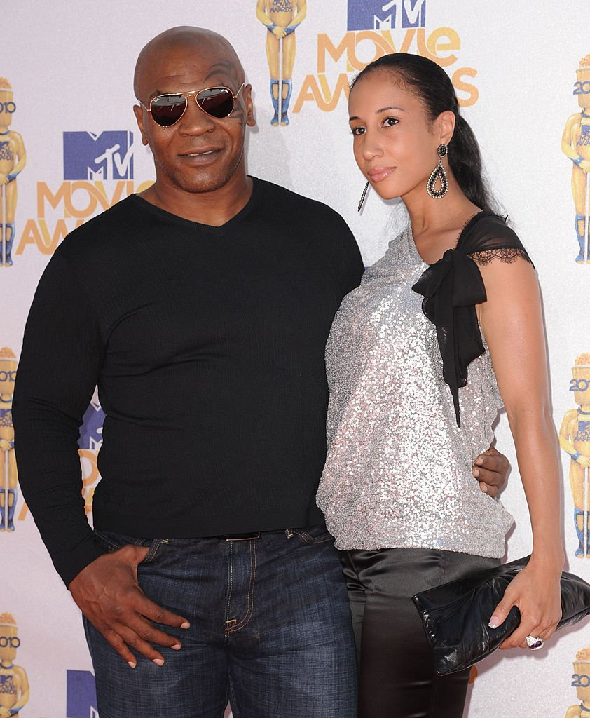 Mike Tyson and Lakiha Spicer arrive at the 2010 MTV Movie Awards at Gibson Amphitheatre | Getty Images