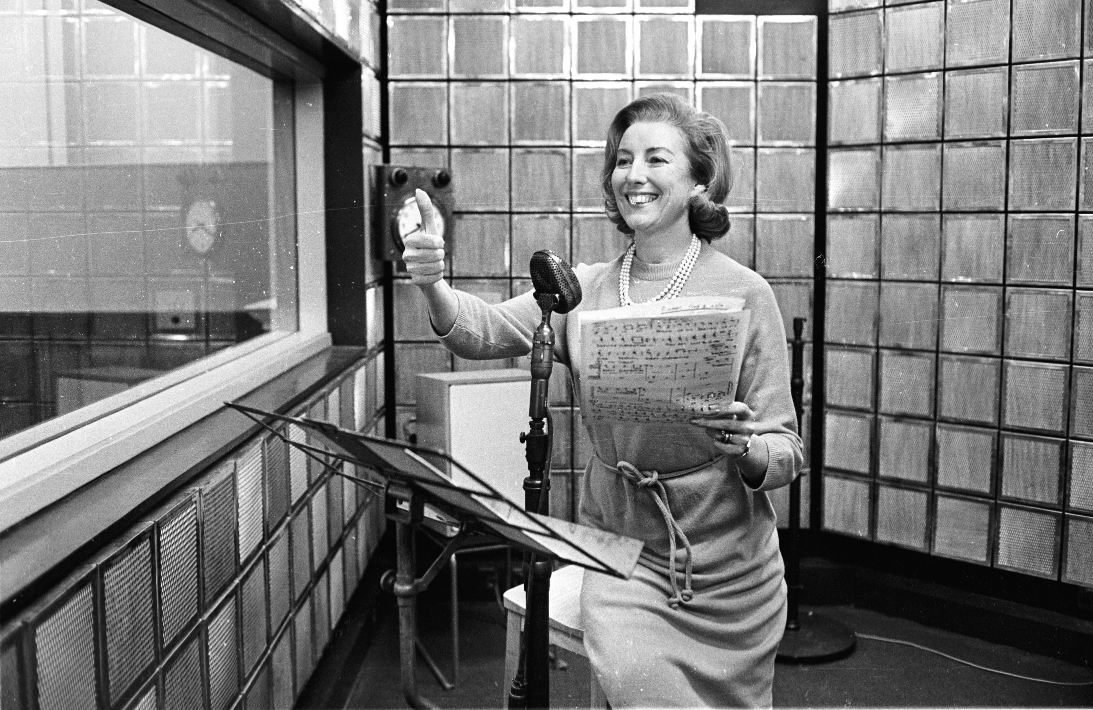 Vera Lynn rehearsing her new radio show, December 31, 1965.   Source: Getty Images