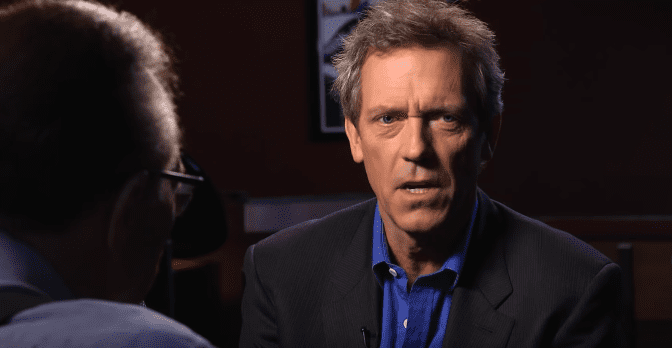 Photo of Hugh Laurie during an interview with Larry King | Photo: Youtube / Larry King