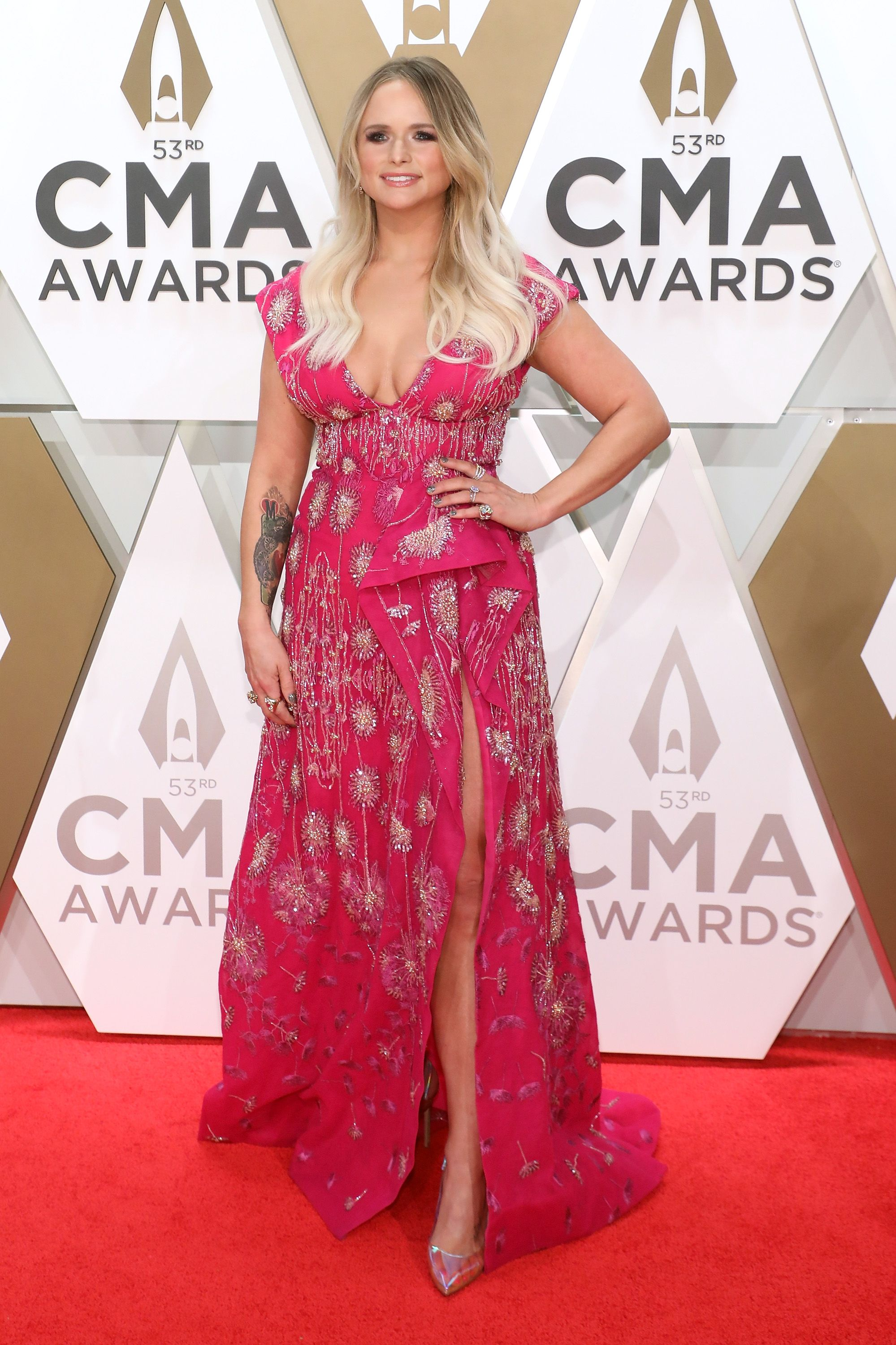 Miranda Lambert at the 53rd annual CMA Awards at Bridgestone Arena on November 13, 2019, in Nashville, Tennessee Photo: Taylor Hill/Getty Images