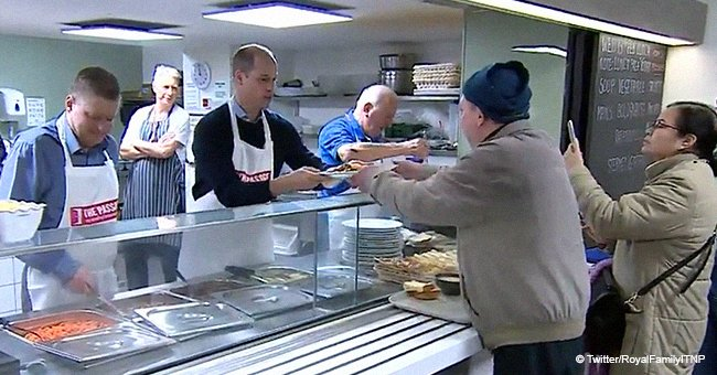 Prince William cooks lunch for the homeless in continuation of Princess Diana's legacy