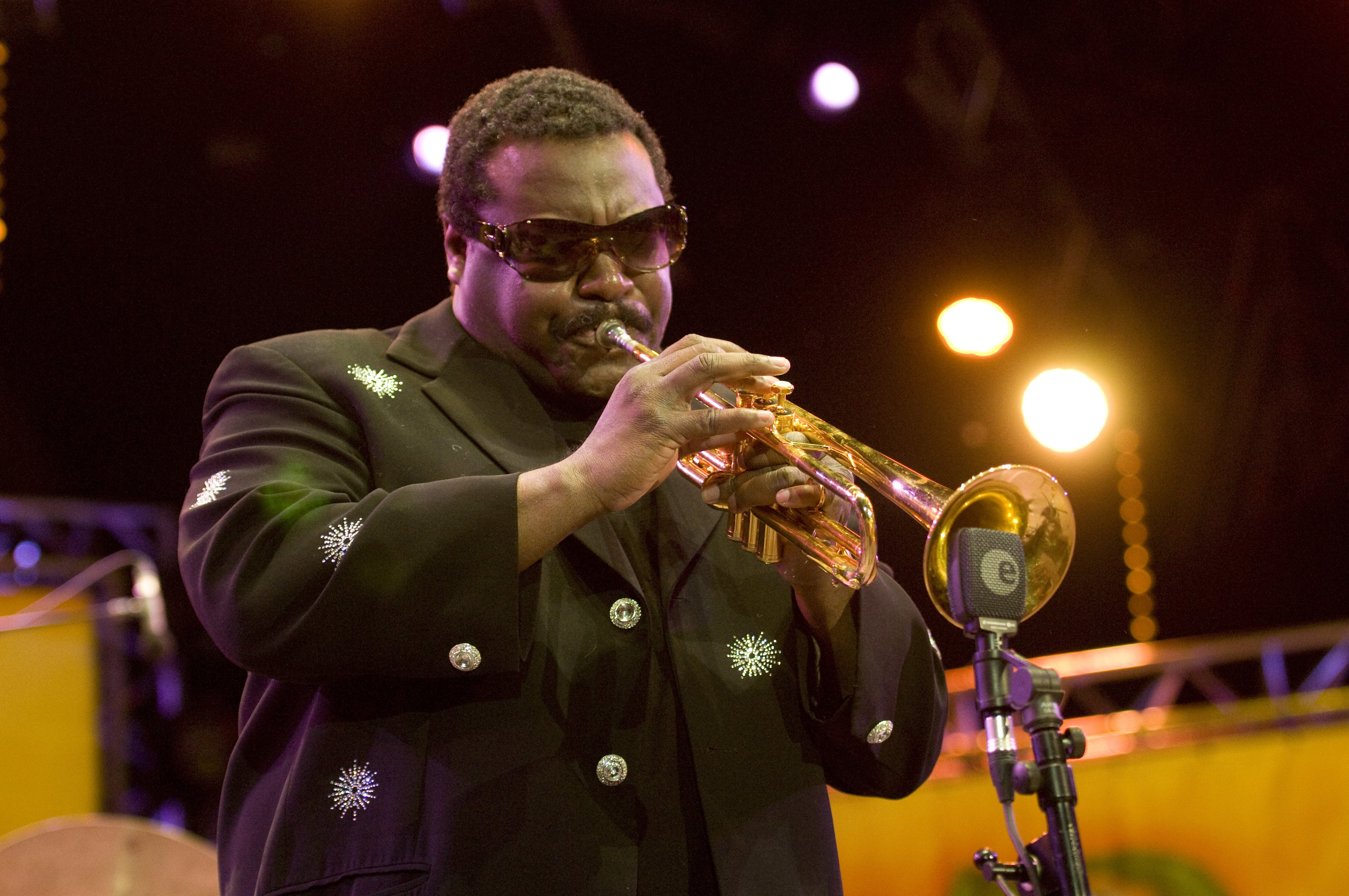 Wallace Roney performs on stage in Vienne, France on July 2, 2011.   Source: Getty Images.