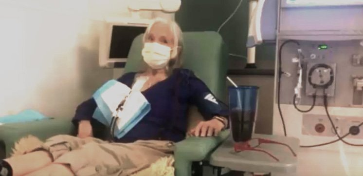 Linda Woolley at the University of Colorado hospital.| Source: YouTube/The News Girl