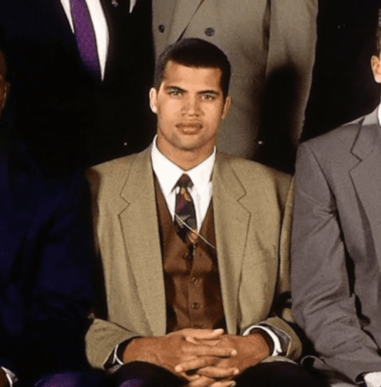 Bison Dele before being drafted in 1991   Photo: YouTube/NBA Insider