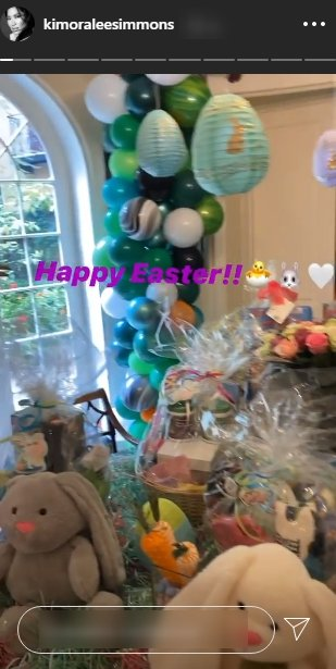 Image of Kimora Lee's home decoration for Easter celebration | Photo: Instagram/Kimoraleesimmons