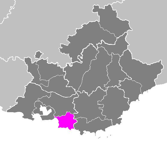 Cartes des arrondissements et des cantons de la France: Arrondissement de Marseille. | Wikimedia Commons