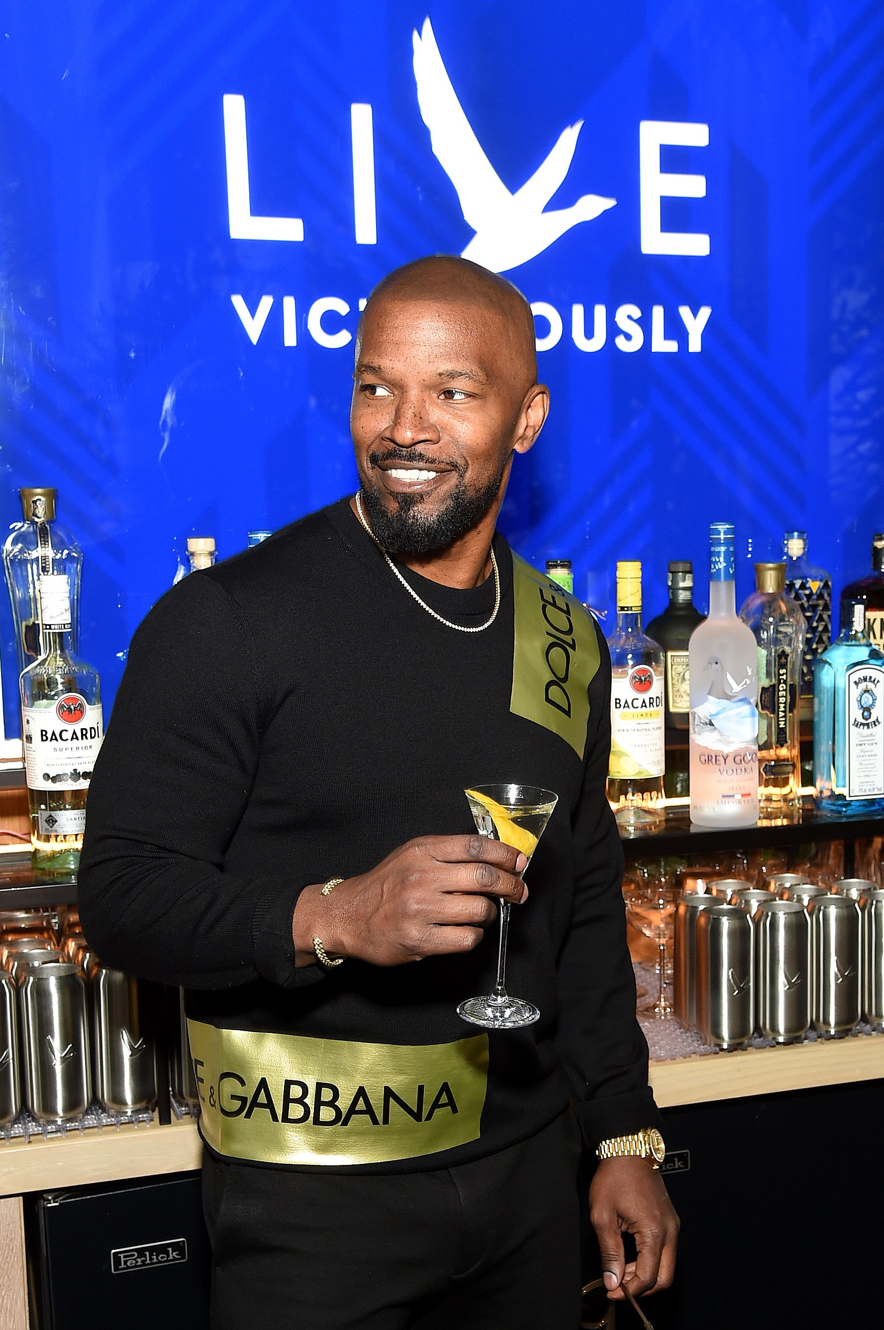 Jamie Foxx at a Grey Goose event in April 2019. | Photo: Getty Images