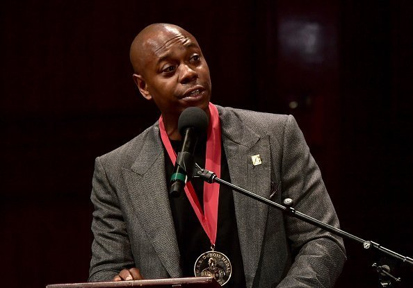 Dave Chappelle on stage at the W.E.B. Du Bois Medal Award Ceremony at Harvard University on October 11, 2018 | Photo: Getty Images