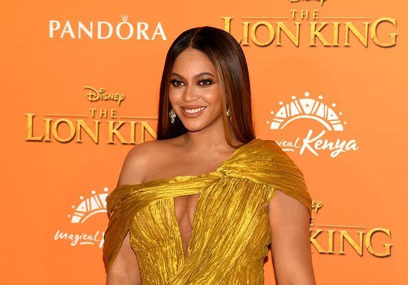"""Beyonce Knowles-Carter attends the European Premiere of Disney's """"The Lion King"""" on July 14, 2019 